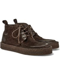 Marsèll Washed-suede Chukka Boots - Brown