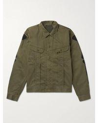 Kapital Appliquéd Denim Jacket - Green
