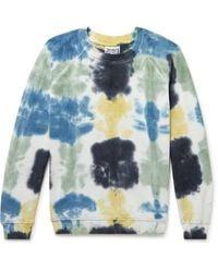 Jungmaven Bonfire Tie-dyed Hemp And Organic Cotton-blend Jersey Sweatshirt - Blue
