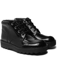 Maison Margiela - Polished-leather Boots - Lyst