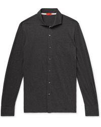 Isaia - Slim-fit Mélange Cotton Shirt - Lyst
