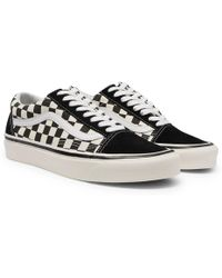 fb41503b09 Vans - Anaheim Factory Old Skool 36 Dx Leather-trimmed Checkerboard Canvas  And Suede Trainers