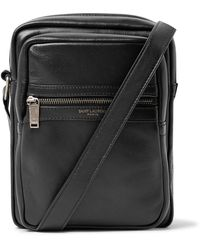 Saint Laurent Brad Leather Cross Body Bag - Black
