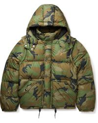 Polo Ralph Lauren Quilted Camouflage-print Recycled Shell Hooded Jacket - Green