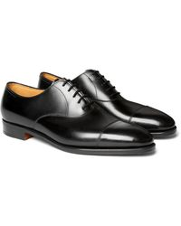 John Lobb City Ii Leather Oxford Shoes - Black