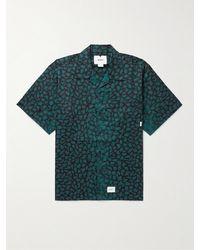 WTAPS Night Vision Camp-collar Leopard-print Cotton-twill Shirt - Black