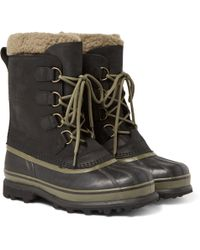 Sorel - Caribou Wl Wool-lined Waterproof Leather Snow Boots - Lyst