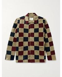 Aimé Leon Dore Checked Cotton-corduroy Jacket - Multicolour