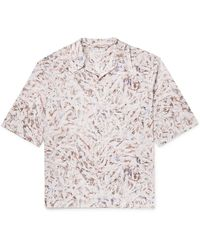Lemaire Camp-collar Printed Cotton Shirt - Multicolour