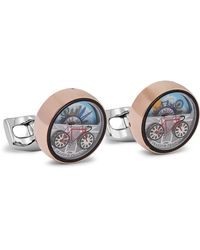 Deakin & Francis Moving London Scene Rose Gold And Silver-tone Cufflinks - Metallic
