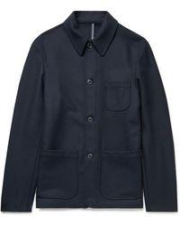 Incotex Melton Virgin Wool-blend Chore Jacket - Blue