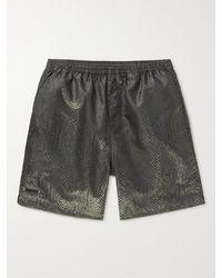 True Tribe Neat Steve Mid-length Iridescent Econyl Swim Shorts - Brown
