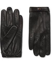 Dents Flemming Leather Gloves - Black