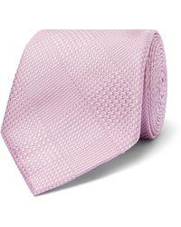 Richard James 7cm Prince Of Wales Checked Silk-jacquard Tie - Pink