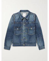 Visvim 101 Slim-fit Distressed Denim Jacket - Blue