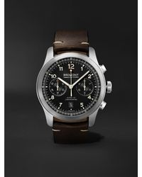 Bremont Alt1-c Griffon Automatic Chronograph 43mm Stainless Steel And Leather Watch - Black