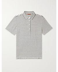 Barena Striped Linen Polo Shirt - Multicolour