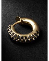 Spinelli Kilcollin Gold Black Diamond Single Hoop Earring - Metallic