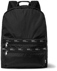 WTAPS Logo-appliquéd Ripstop Backpack - Black