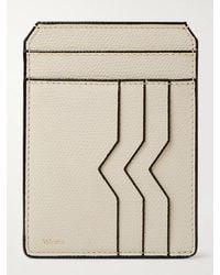 Valextra Pebble-grain Leather Cardholder - Multicolor