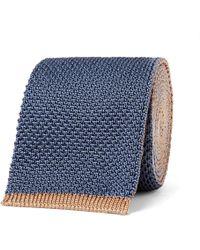 Boglioli - 6cm Reversible Knitted Silk Tie - Lyst