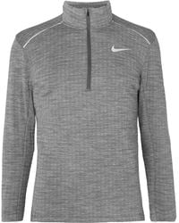 Nike 3.0 Element Mélange Therma-sphere Dri-fit Half-zip Top - Grey