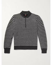 Kiton Slim-fit Cashmere Half-zip Jumper - Grey