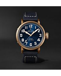 Zenith Pilot Type 20 Extra Special Automatic 40mm Bronze And Nubuck Watch - Blue