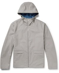Theory | Coated Cotton-blend Shell Hooded Jacket | Lyst