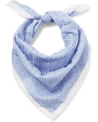 Anderson & Sheppard - Printed Cotton-voile Bandana - Lyst