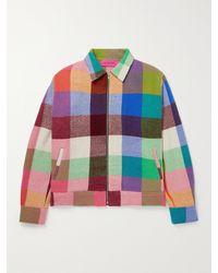 The Elder Statesman Wonderland Checked Cashmere Jacket - Multicolour
