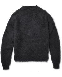 Haider Ackermann Mohair And Silk-blend Sweater - Black