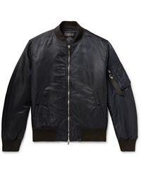 Rag & Bone Manston Nylon Bomber Jacket - Black