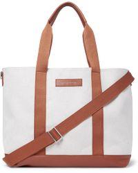 Want Les Essentiels De La Vie   Marti Leather-trimmed Canvas Tote Bag   Lyst