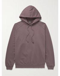 AURALEE Cotton-jersey Hoodie - Purple