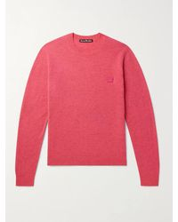 Acne Studios Kalon Logo-appliquéd Wool Jumper - Pink