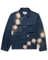 STORY mfg. Helix Resist-dyed Organic Cotton Jacket - Blue