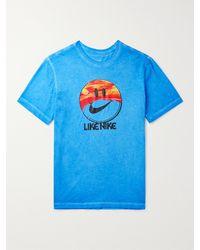 Nike Printed Cotton-jersey T-shirt - Blue