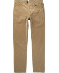 Oliver Spencer - Fishtail Stretch-cotton Corduroy Trousers - Lyst