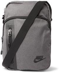 Nike Logo-appliquéd Canvas Pouch - Grey