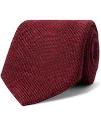 Anderson & Sheppard 9cm Virgin Wool-blend Tie - Red