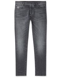 Balmain - Slim-fit Stretch-denim Jeans - Lyst
