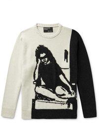 Enfants Riches Deprimes Intarsia Cashmere Sweater - Multicolor
