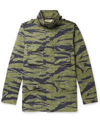 Aspesi Icon 2 Camouflage-print Cotton-blend Twill Field Jacket - Green