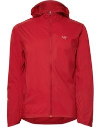 Arc'teryx Incendo Slim-fit Mesh-panelled Lumin Hooded Jacket - Red