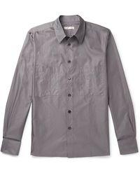 The Row Gerald Cotton Shirt - Grey