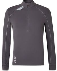 Soar Running Mid-temperature 3.0 Stretch-jersey Half-zip Top - Grey