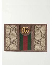 Gucci - 'ophidia' Monogram Cardholder - Lyst