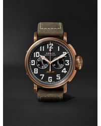 Zenith Pilot Type 20 Extra Special Automatic Chronograph 45mm Bronze And Nubuck Watch, Ref. No. 29.2430.4069/21.c800 - Black