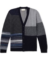 Altea - Patchwork Virgin Wool-blend Cardigan - Lyst